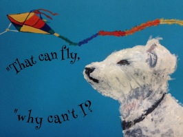 The Dog Who Wanted To Fly - Copyright Kim