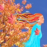 Autumn Leaves Lady