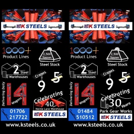 Two Infographic Illustrations for K Steels