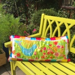 Bird and Flower Cushion